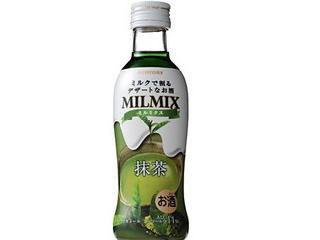 サントリー ミルクで割るデザートなお酒 MILMIX 抹茶 瓶200ml