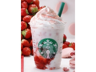 スターバックス #STRAWBERRYVERYMUCHFRAPPUCCINO__WHITE