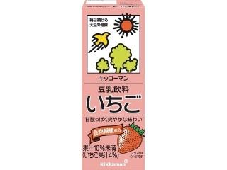 キッコーマン 豆乳飲料 いちご パック200ml