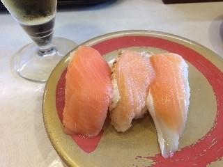 はま寿司 サーモン三種盛り