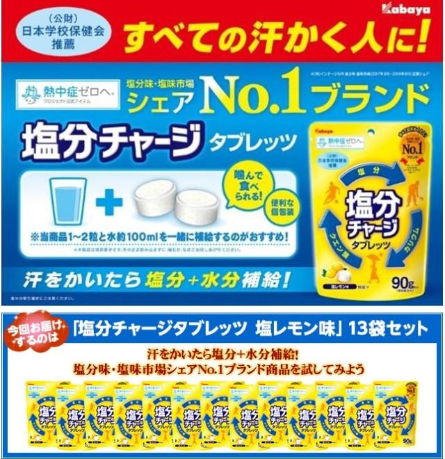 すべての汗かく人に!塩分味・塩味市場シェアNo.1ブランド「塩分チャージタブレッツ」13袋